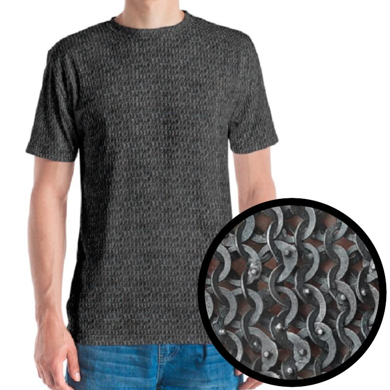 Chainmail patterened t-shirt for LARP