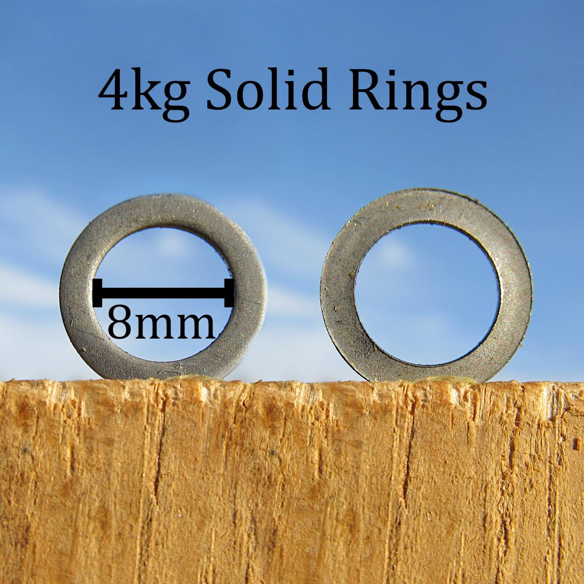 8mm solid chainmail rings for riveted-solid mail