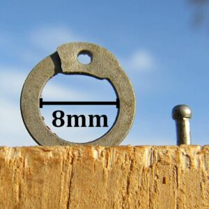 8mm Dome Riveted Flat Rings close up