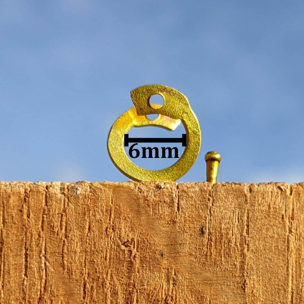 6mm flat brass rings